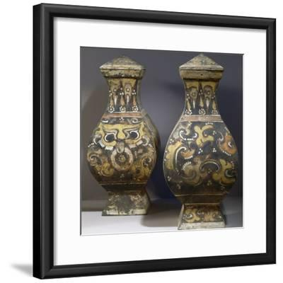 Pair of Hang Fu Vases--Framed Photographic Print