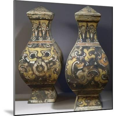 Pair of Hang Fu Vases--Mounted Photographic Print