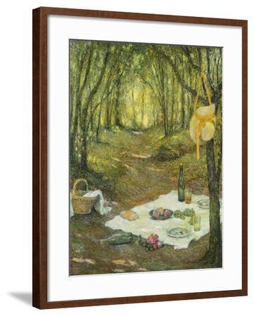 Le Gouter Sous Bois, Gerberoy, 1925-Henri Eugene Augustin Le Sidaner-Framed Giclee Print
