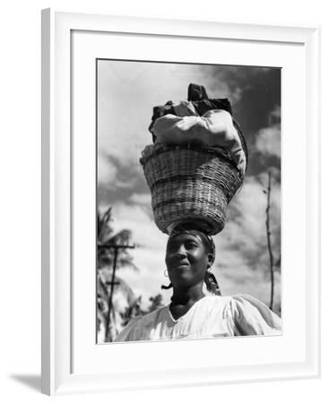 Haitian Woman Vendor, C.1959--Framed Photographic Print