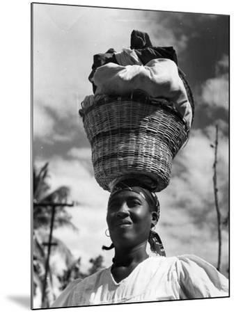 Haitian Woman Vendor, C.1959--Mounted Photographic Print