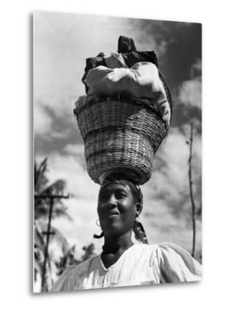 Haitian Woman Vendor, C.1959--Metal Print