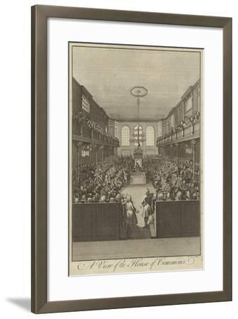A View of the House of Commons, Westminster--Framed Giclee Print