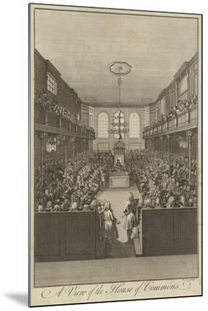 A View of the House of Commons, Westminster--Mounted Giclee Print
