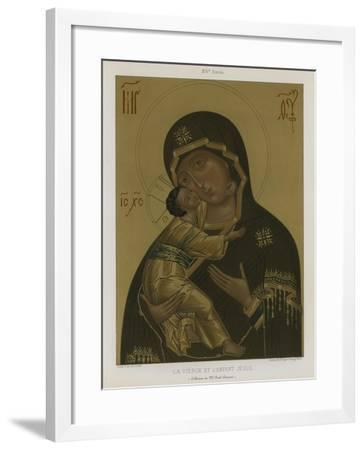 The Virgin Mary with the Baby Jesus--Framed Giclee Print