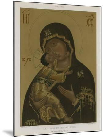 The Virgin Mary with the Baby Jesus--Mounted Giclee Print