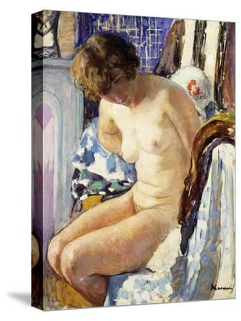 Seated Nude; Nu Assise-Henri Lebasque-Stretched Canvas Print