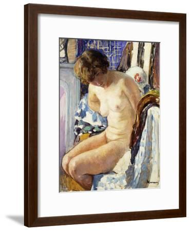 Seated Nude; Nu Assise-Henri Lebasque-Framed Giclee Print