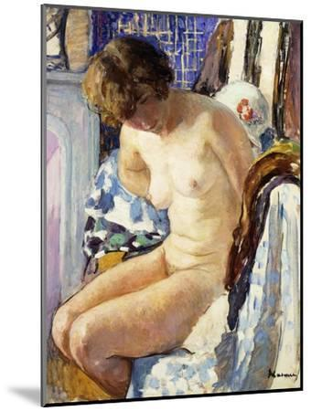 Seated Nude; Nu Assise-Henri Lebasque-Mounted Giclee Print