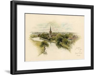 Stratford-Upon-Avon and Holy Trinity Church--Framed Giclee Print