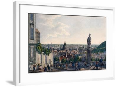 View of Prague from the New Castle Steps, 1835-Vincenc Morstadt-Framed Giclee Print