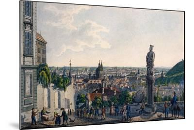 View of Prague from the New Castle Steps, 1835-Vincenc Morstadt-Mounted Giclee Print
