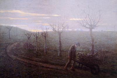 Returning from Woods, Emilio Longoni--Stretched Canvas Print