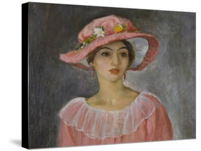 The Pink Hat-Henri Lebasque-Stretched Canvas Print