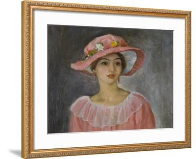 The Pink Hat-Henri Lebasque-Framed Giclee Print