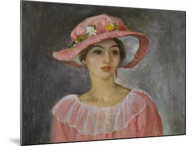 The Pink Hat-Henri Lebasque-Mounted Giclee Print
