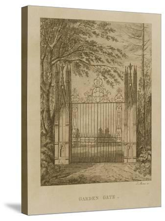 Garden Gate at Strawberry Hill-J. Morris-Stretched Canvas Print
