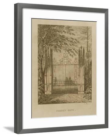Garden Gate at Strawberry Hill-J. Morris-Framed Giclee Print