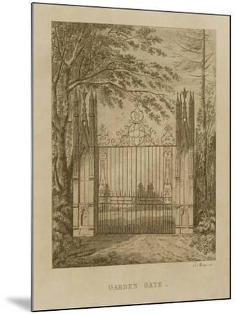 Garden Gate at Strawberry Hill-J. Morris-Mounted Giclee Print