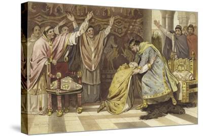 Election of Frederick I as Bishop of Utrecht, 817-Willem II Steelink-Stretched Canvas Print