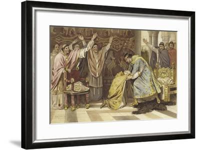 Election of Frederick I as Bishop of Utrecht, 817-Willem II Steelink-Framed Giclee Print