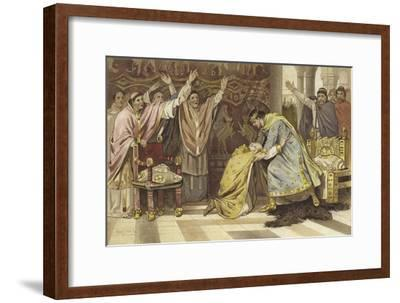 Election of Frederick I as Bishop of Utrecht, 817-Willem II Steelink-Framed Giclee Print