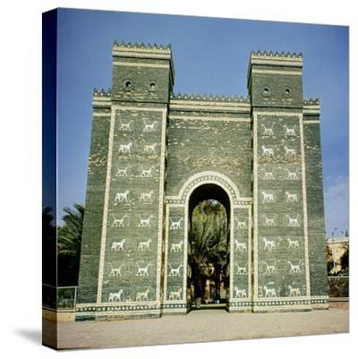 The Ishtar Gate, Babylonian, C.580 Bc--Stretched Canvas Print