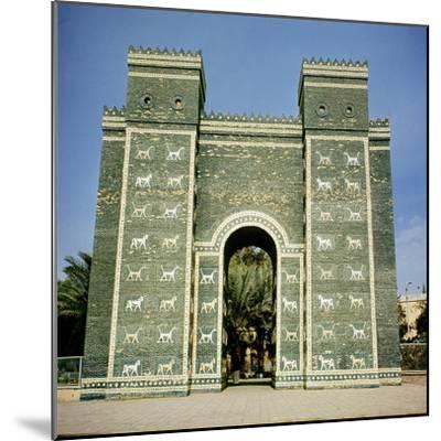 The Ishtar Gate, Babylonian, C.580 Bc--Mounted Photographic Print