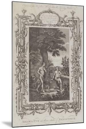 Adam and Eve, the Garden of Eden--Mounted Giclee Print