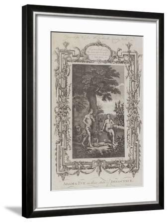 Adam and Eve, the Garden of Eden--Framed Giclee Print