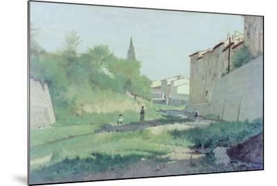 At the Mugnone River-Odoardo Borrani-Mounted Giclee Print