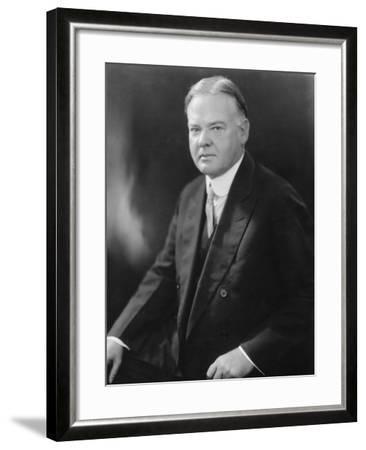 Portrait of Herbert Hoover--Framed Photographic Print