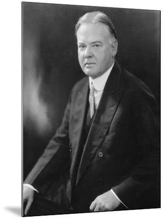 Portrait of Herbert Hoover--Mounted Photographic Print