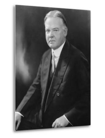 Portrait of Herbert Hoover--Metal Print