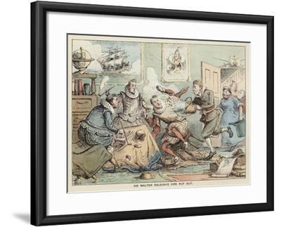 Sir Walter Raleigh's Pipe Put Out--Framed Giclee Print