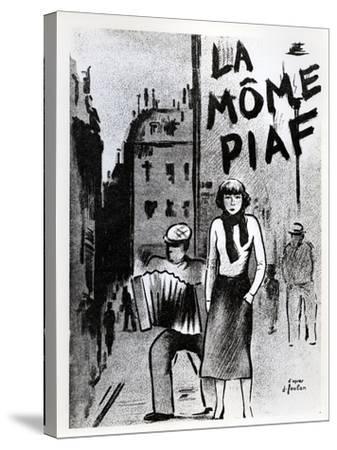 'La Mome Piaf', C.1950--Stretched Canvas Print
