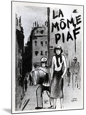 'La Mome Piaf', C.1950--Mounted Photographic Print