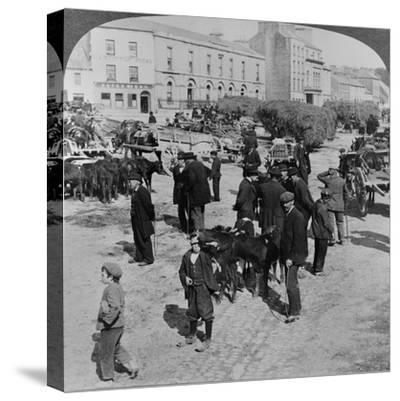 Market, Eyre Square, Galway, Ireland, C.1900--Stretched Canvas Print