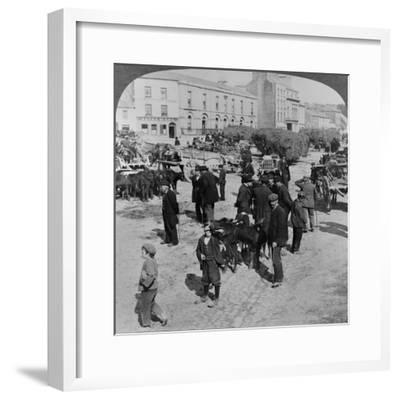 Market, Eyre Square, Galway, Ireland, C.1900--Framed Giclee Print
