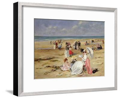 Beach at Courseulles-Henri Michel-Levy-Framed Giclee Print