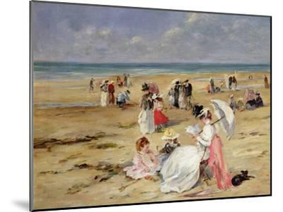 Beach at Courseulles-Henri Michel-Levy-Mounted Giclee Print