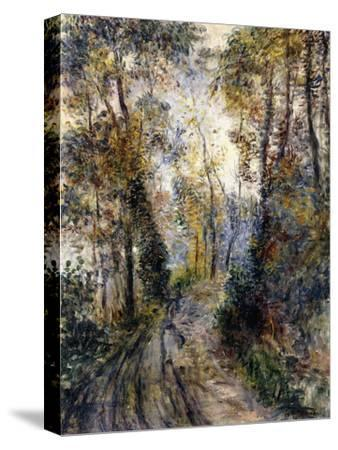 The Forest Path, 1871-Pierre-Auguste Renoir-Stretched Canvas Print
