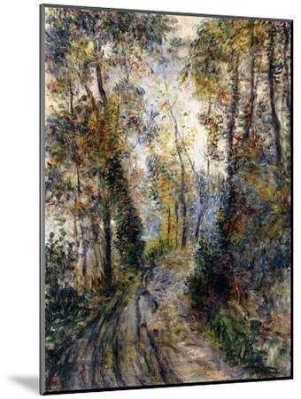 The Forest Path, 1871-Pierre-Auguste Renoir-Mounted Premium Giclee Print