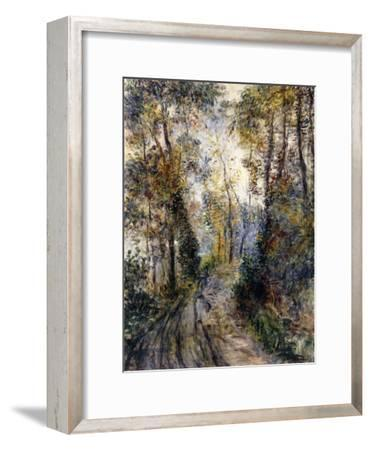 The Forest Path, 1871-Pierre-Auguste Renoir-Framed Premium Giclee Print