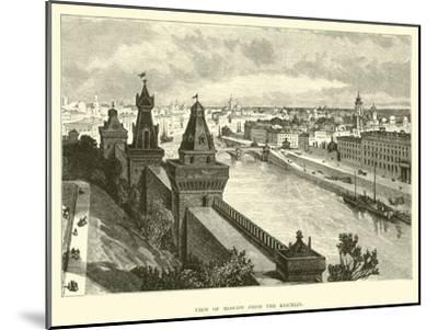 View of Moscow from the Kremlin--Mounted Giclee Print