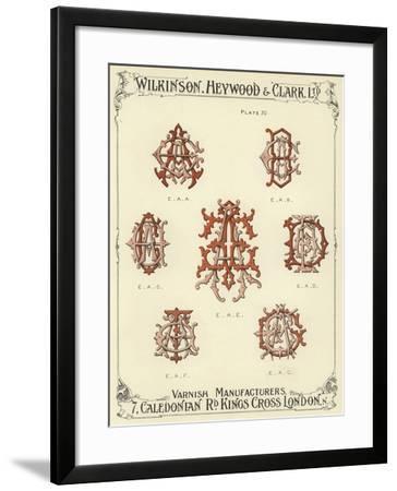 EAA, EAB, EAC, EAE, EAD, EAF, EAG--Framed Giclee Print