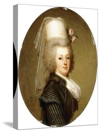 Portrait of Queen Marie Antoinette, 1793-Adolf Ulrich Wertmuller-Stretched Canvas Print