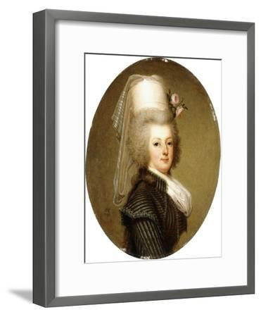 Portrait of Queen Marie Antoinette, 1793-Adolf Ulrich Wertmuller-Framed Giclee Print