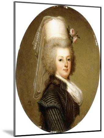 Portrait of Queen Marie Antoinette, 1793-Adolf Ulrich Wertmuller-Mounted Giclee Print