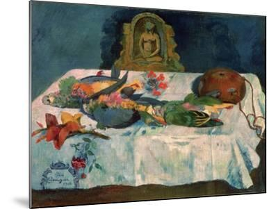 Still Life with Parrots, 1902-Paul Gauguin-Mounted Giclee Print